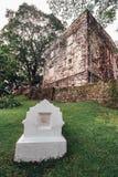 Heiliges Paul Statue in St- Paul` s Kirche ist ein historisches Kirchengebäude in Melaka, Malaysia Stockfotografie