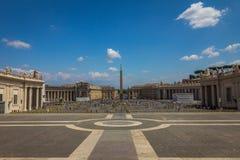 Heiliges Peters Square in der Vatikanstadt Lizenzfreies Stockfoto
