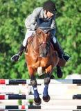 HEILIGES PETERSBURG 5. JULI: Rider Gunnar Klettenberg auf Ulrike R I Lizenzfreies Stockfoto
