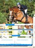 HEILIGES PETERSBURG 5. JULI: Rider Kristupas Petraitis auf Barichela Lizenzfreies Stockfoto