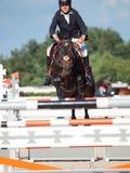 HEILIGES PETERSBURG 5. JULI: Rider Tiit Kivisild auf Korsika das CS Lizenzfreies Stockfoto