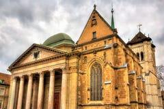 Heiliges Pierre Cathedral von Geneve Lizenzfreie Stockbilder