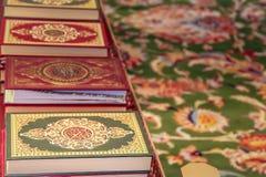 Heiliges Quran-Bücherregal Stockbild