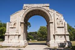 Heiliges Remy - der römische Standort Stockfoto