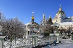 Heiliges Sonnenlicht Dormition Pochayiv Lavra morgens, Ukraine Lizenzfreies Stockfoto