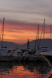 Heiliges-Tropez, Jachthafen, französisches Riviera, Frankreich Stockfotografie