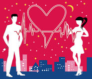 Heiliges Valentine Heartbeat Stockfoto