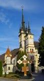 Heiligesnicholas-Kirche Brasov Grenzstein Stockfotos