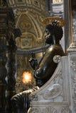 Heiligespeter-Statue im Heiligen Peters. Stockfotografie