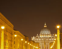 Heiligespeters Basilika, Vatikanstadt, Italien lizenzfreie stockfotografie