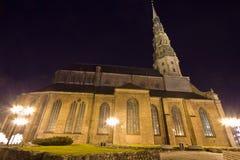 Heiligespeters Kirche in Riga, Lettland stockbild
