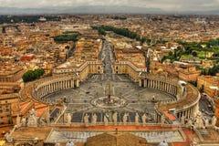 Heiligespeters Quadrat, Vatican, Rom, Italien. Stockfotos
