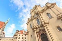 Heiliggeistkirche (церковь святого духа) стоковые фото