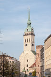 Heiliggeistkirche Church Clock Tower Munich Royalty Free Stock Image