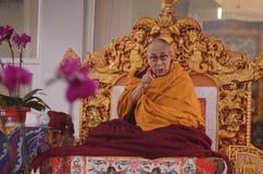 Heiligkeit Dalai Lama in Bodhgaya, Indien lizenzfreies stockbild