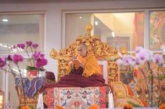 Heiligkeit Dalai Lama in Bodhgaya, Indien stockfotografie