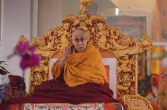 Heiligkeit Dalai Lama in Bodhgaya, Indien lizenzfreie stockfotos