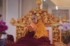Heiligkeit Dalai Lama in Bodhgaya, Indien stockbilder