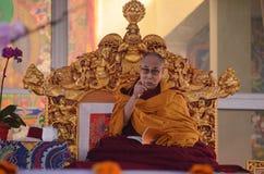 Heiligkeit Dalai Lama in Bodhgaya, Indien lizenzfreies stockfoto