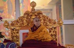 Heiligkeit Dalai Lama in Bodhgaya, Indien stockfoto