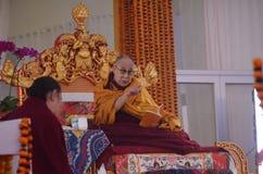 Heiligkeit Dalai Lama in Bodhgaya, Indien stockbild