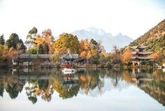 Heillongtan,在Lijiang的黑色龙池 库存图片