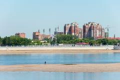 HEILONGJIANG, ΚΙΝΑ - 15 Ιουλίου 2015: Πόλη Blagoveshchensk Russi Στοκ φωτογραφίες με δικαίωμα ελεύθερης χρήσης