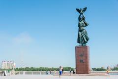 HEILONGJIANG, CHINE - 15 juillet 2015 : Parc de Heilongjiang La ville o Photo libre de droits