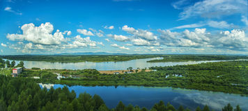 Heilongjiang Province town Ussuri tiger wetland scenery Royalty Free Stock Images