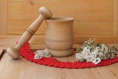 Heilpflanzen - Garbe, Blume der Schafgarbe Stockfotografie