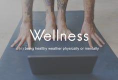 Heilsame Wellness-gesunde Eignungs-starkes starkes Konzept Stockfotografie