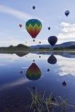 Heißluft-Ballone Stockbild