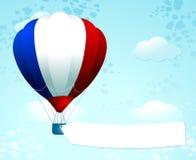 Heißluft baloon mit französischen Farben Stockfotografie