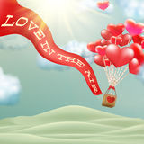 Heißluftballon photgrphed beim Bealton, VA-Flugwesen-Zirkus-Flugschau ENV 10 Lizenzfreie Stockfotografie