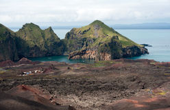 Heimaey island, Iceland. Multi Colored Lava Landscape at Heimaey Island, Iceland Royalty Free Stock Photo