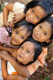 Heimatlose Armut-Kinder Stockbild