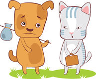 Heimatlose Haustiere Stockfoto