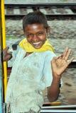 Heimatloser Junge Stockfotografie