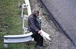 Heimatloser Mann. Lizenzfreie Stockfotos