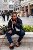 Heimatloser Mann Stockfotografie