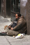 Heimatloser Mann Stockfoto