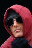 Heimatloser Mann in der Kälte Stockfotografie