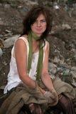 Heimatloses Mädchen. Lizenzfreie Stockbilder