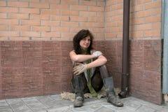 Heimatloses Mädchen Stockfotos