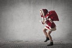 Heimelijke Santa Claus royalty-vrije stock afbeeldingen