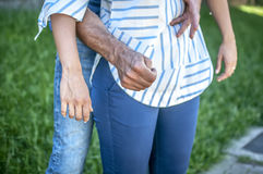 Heimlich maneuver Royalty Free Stock Image