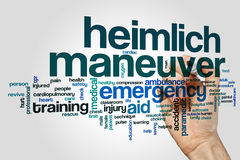 Heimlich maneuver word cloud Stock Image
