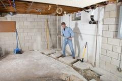 Heimwerker-Auftragnehmer-Bauarbeiter Stockfotografie