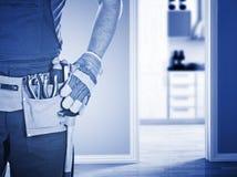 Heimwerker betriebsbereit zur Arbeit Lizenzfreies Stockfoto