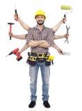 Heimwerker mit Werkzeugen Stockbild